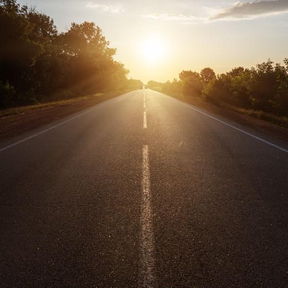 nice flat asphalt road