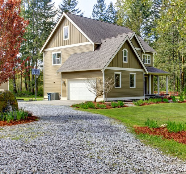 A granite driveway is great for areas with low-average rainfall.